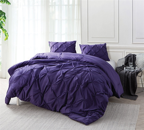 Recommended Oversize Full Comforter Sets Purple Reign