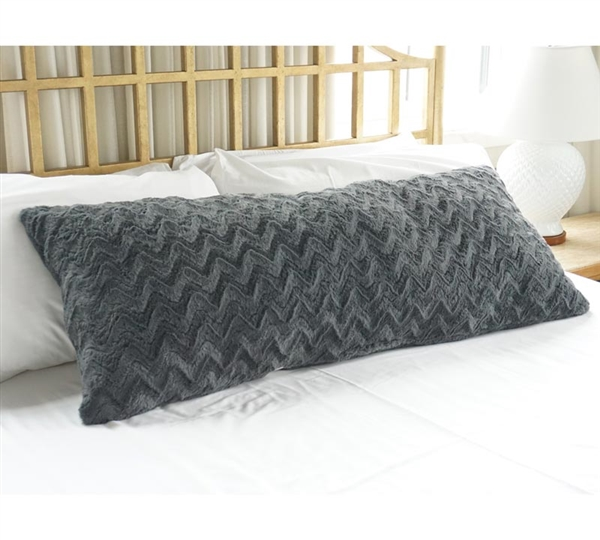 Plush body pillow steel gray buy body pillows online for Buy pillows online cheap