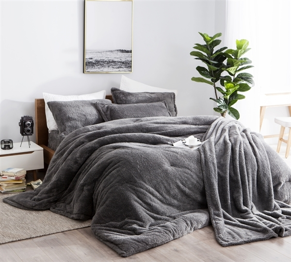 Gray King Oversize Comforter Amazingly Comfy Charcoal Gray