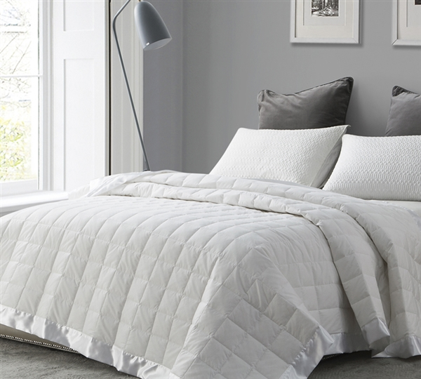 Search Extra Long Full Size Bed Blankets In White Down