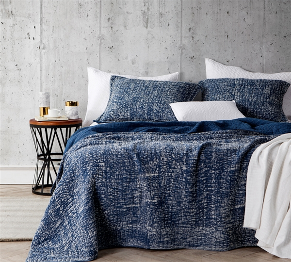 Filter Stone Washed Cotton Quilt Nightfall Navy