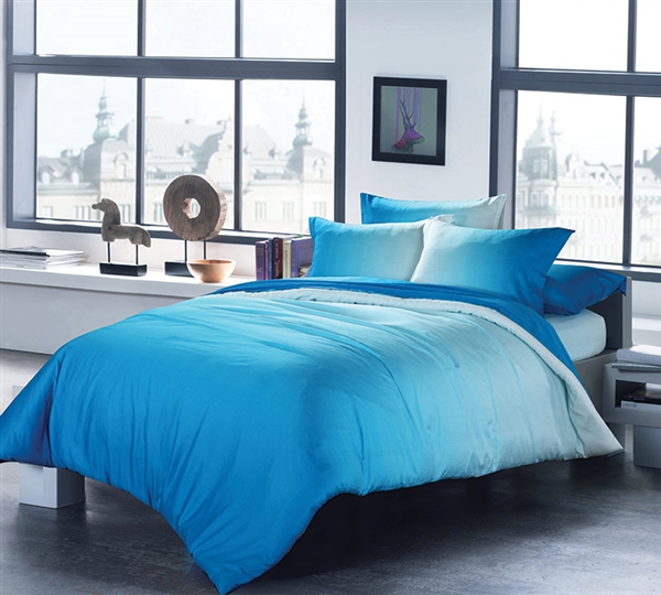 Cotton Navy Blue Duvet Cover Set Queen
