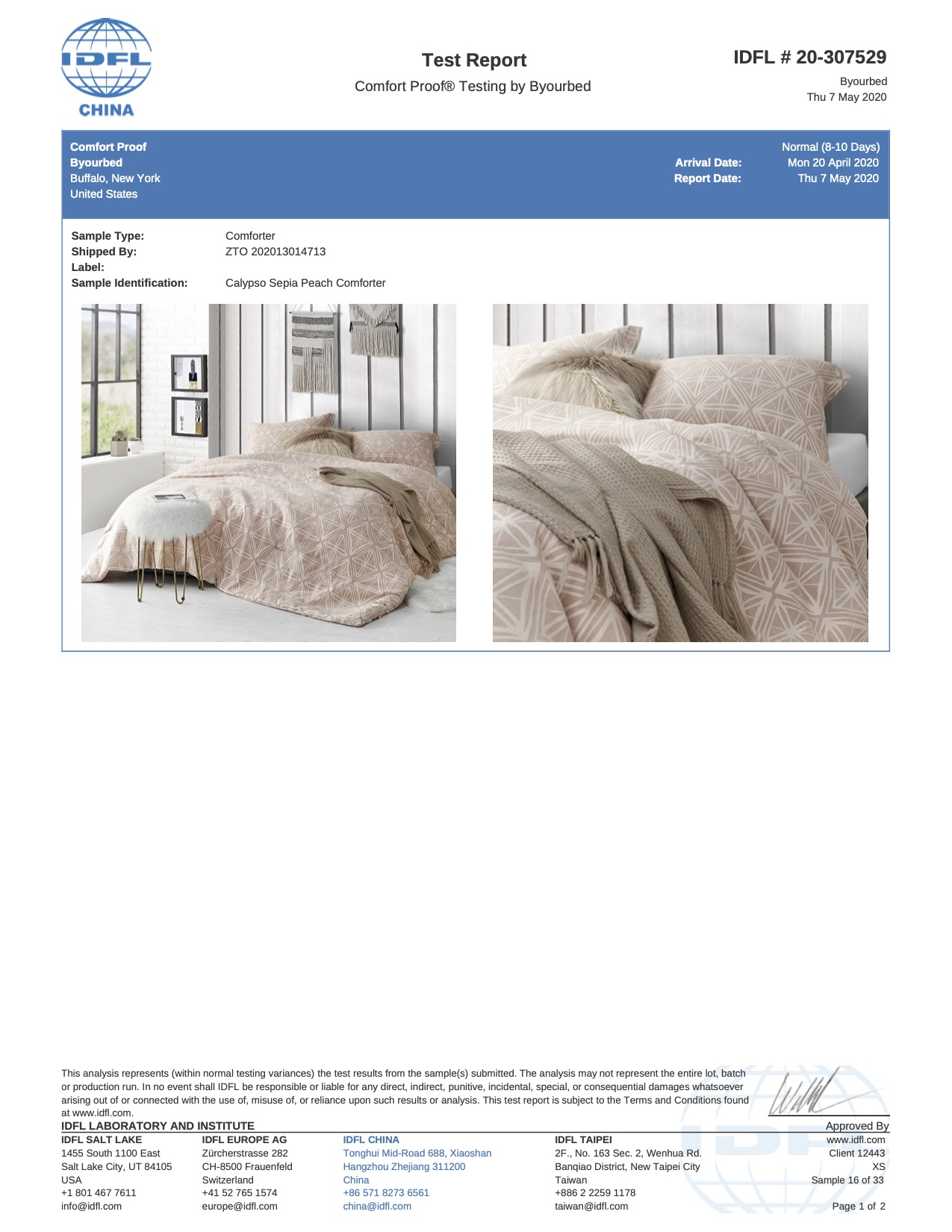 Soft Cotton Xl King Bedding Designer Calypso Sepia Peach King Extra Large Comforter With Matching King Shams