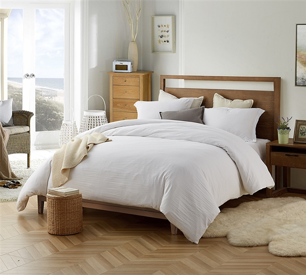 White Twin Xl Oversized Comforter Extra Thick Natural Loft