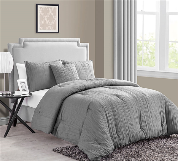 grey bed set buy king size comforter sets crinkle 4pc king 11741